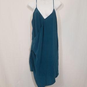 LAmade green silk dress